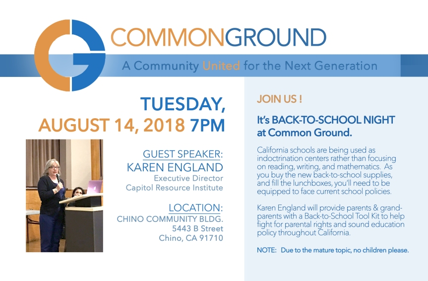 COMMON GROUND - 8-14-18